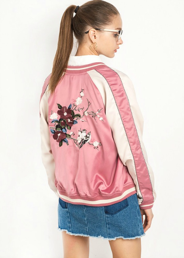 pixie-market-pink-floral-embroidered-satin-bomber-jacket
